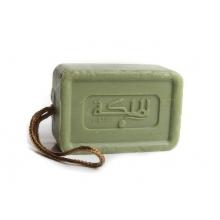 Aleppské mýdlo obohaceno parfémem, na provázku